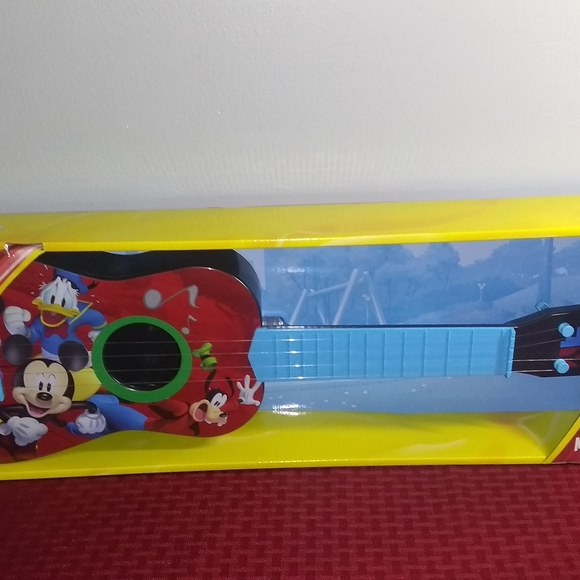 NWT Mickey Mouse Plastic Guitar